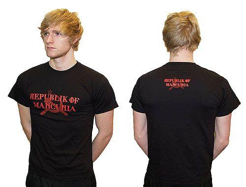Republic of Mancunia Black Cotton T Shirt