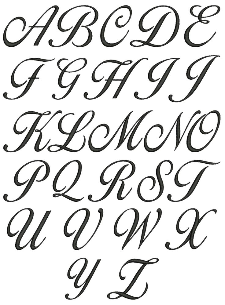 25 Best Ideas About Cursive Fonts Alphabet On Pinterest
