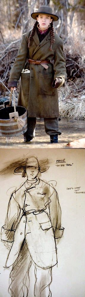 Hailee Steinfeld as Mattie Ross in 'True Grit' (2010). Costume Designer: Mary Zophres