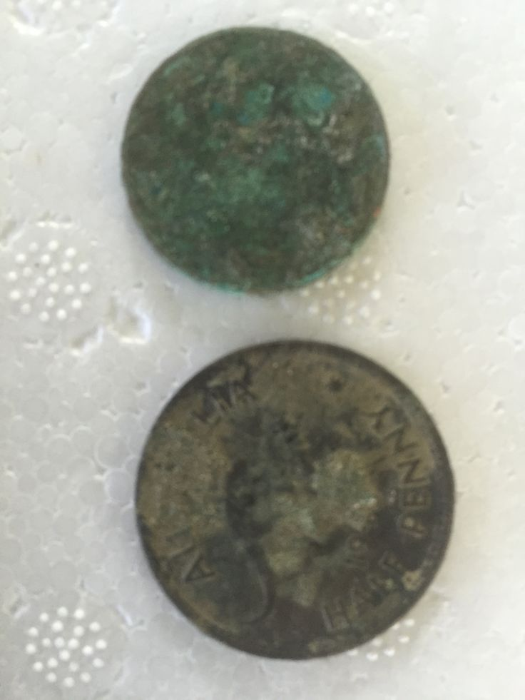 Couple of Old coins from the beach. Little bit of electrolysis and they should come up great!