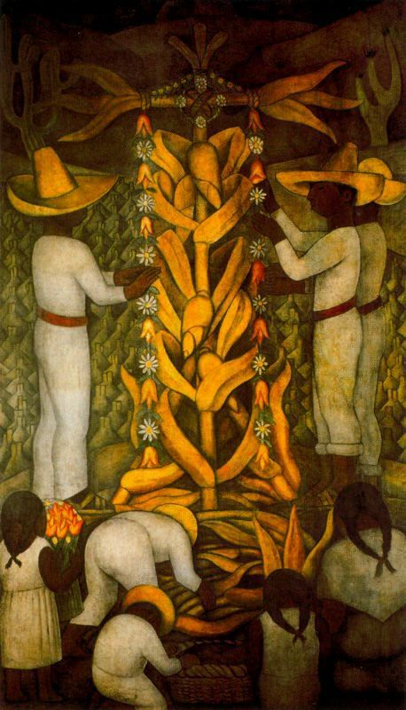 "Diego Rivera- ""The Maize Festival"" Art Experience NYC www.artexperiencenyc.com"