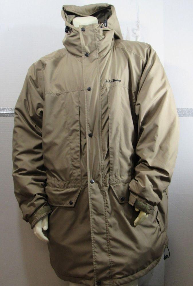 ad1ba0f68ea LL Bean Parka Mens Tall XXL Light Brown Nylon Polyester 3-in-1 Removable  Fleece  LLBean  Parka