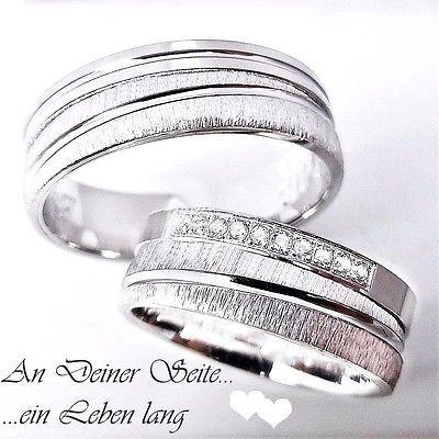2 Silber 925 Trauringe Eheringe Verlobungsringe Hochzeitsringe + Gravur 3311-9