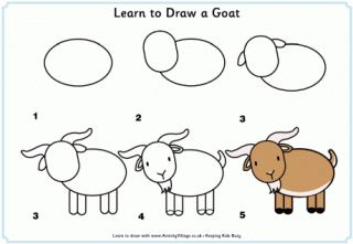 Learn to Draw a Goat & other farm animals