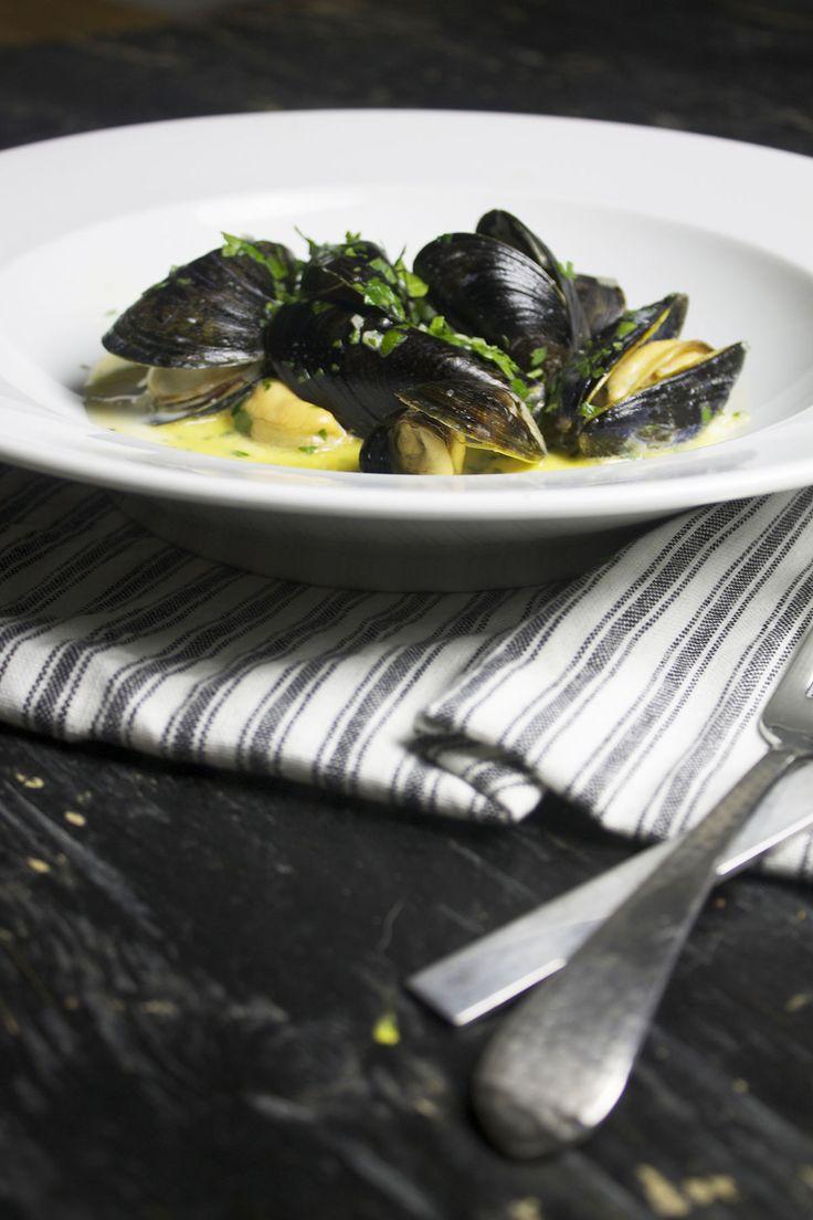 Blåmuslinger med chorizo // Mussels and chorizo