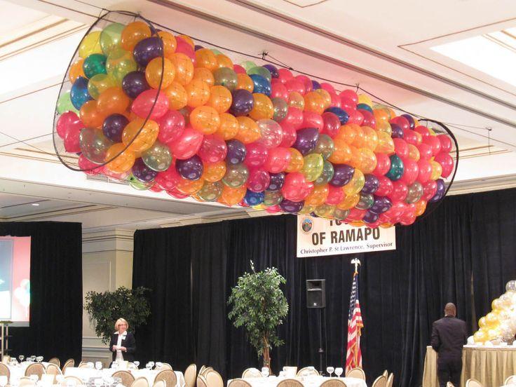 Balloon Net Drop Balloon Net Drop over Dance Floor