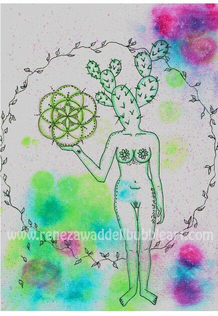 Cactus heads  Flower of life series  www.renezawaddellbubbleart.com #renezawaddellbubbleart #bubbleshop