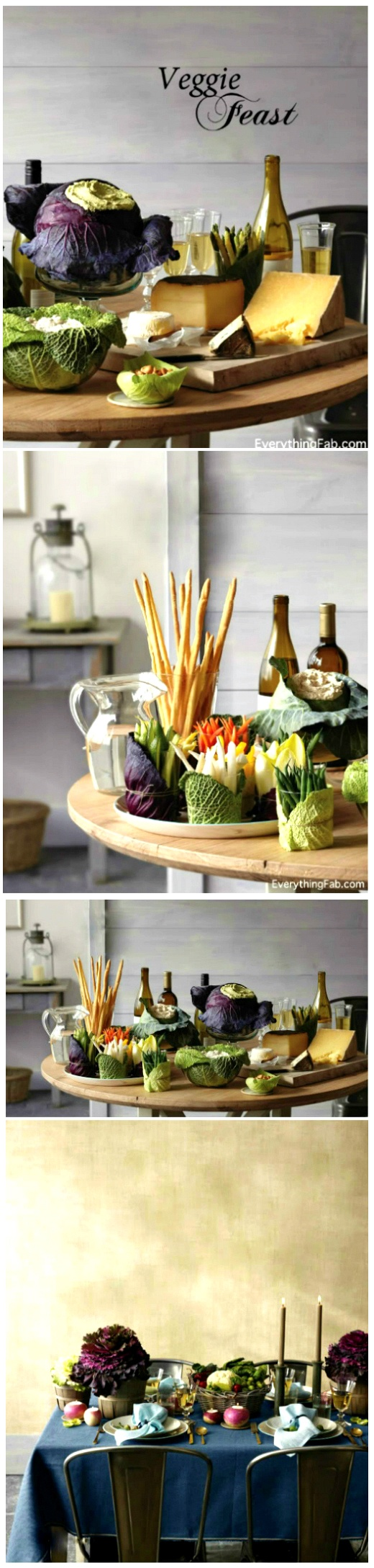 Tablescape ● Richly colored veggies to decorate your tablescape or appetizer table