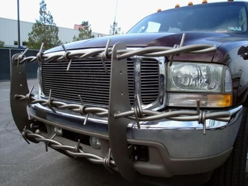 barbed wire brush guard