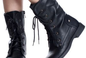 black work boots for women