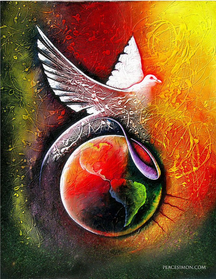 Peaceful World By Peace Simon Peace Poster Peace