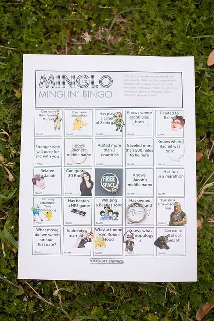 Customized Minglo game for the wedding!