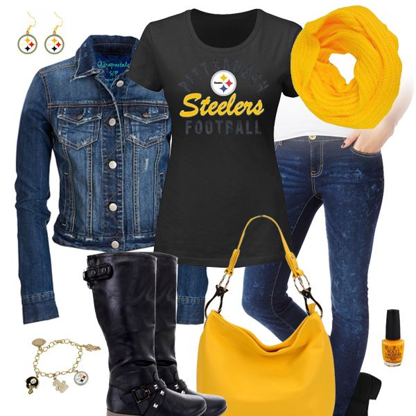 Pittsburgh Steelers Jean Jacket Outfit