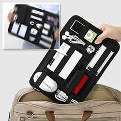 Organize your tech tools! Very cool for travel around the corner or around the world