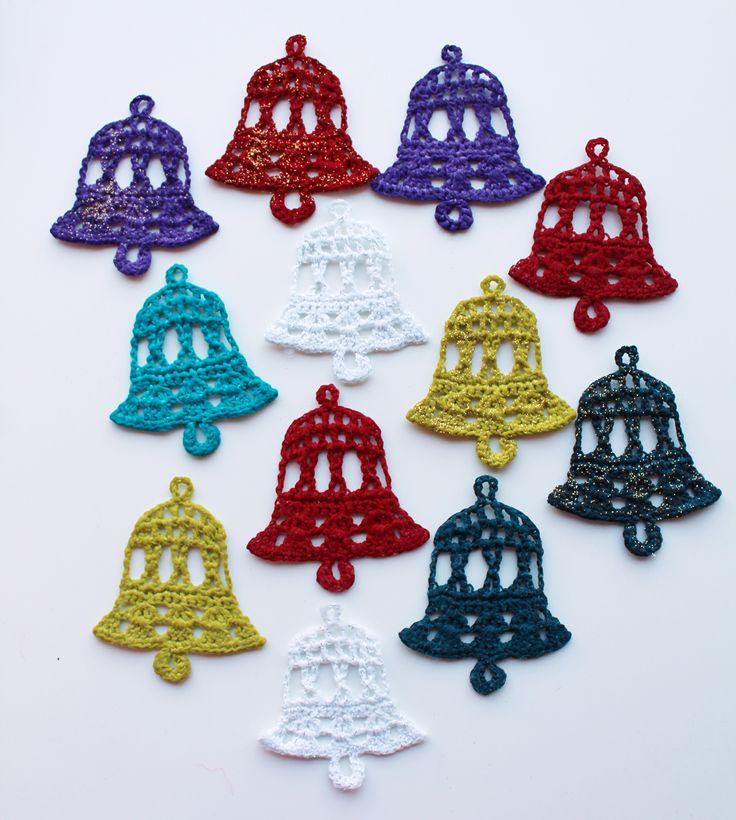 Crochet bells with videotutorial