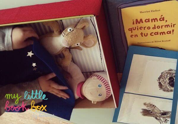 Camita de la caja del libro ¡Mamá, quiero dormir en tu cama! Gracias por compartir vuestras manualidades #mylittlebookbox con nosotros. https://twitter.com/andoci/status/475211575864090625/photo/1