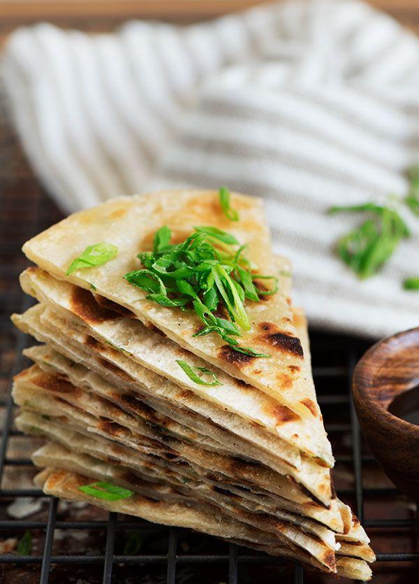 Extra crispy & flaky, lightly chewy Taiwanese Scallion Pancake. Savory ...