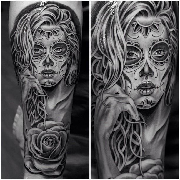 Sugar Skull Girl Tattoo tatu baby | sugar skull tattoo by jun