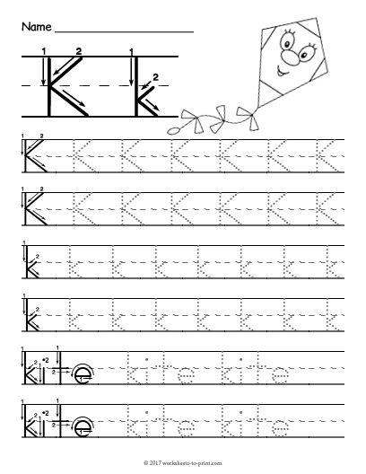 free printable tracing letter k worksheet letter tracing. Black Bedroom Furniture Sets. Home Design Ideas