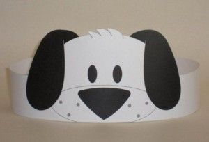 Puppy (Black & White) Crown | Crafts and Worksheets for Preschool,Toddler and Kindergarten