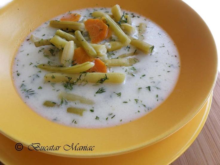 Supa de fasole verde proaspata