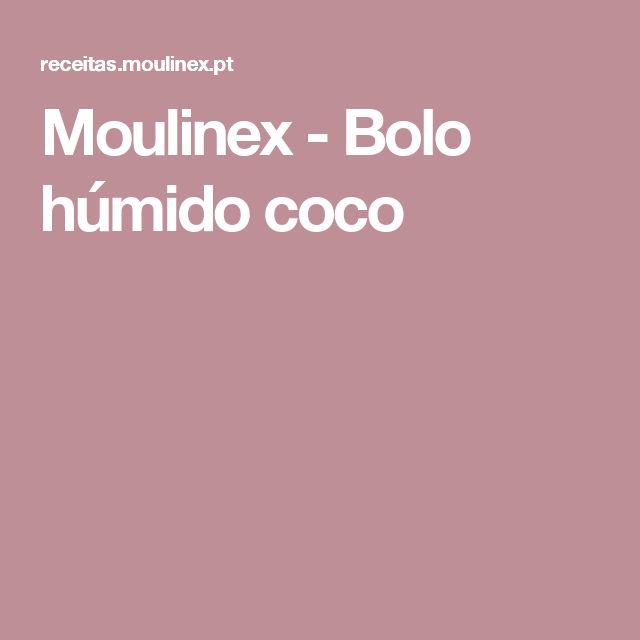 Moulinex - Bolo húmido coco