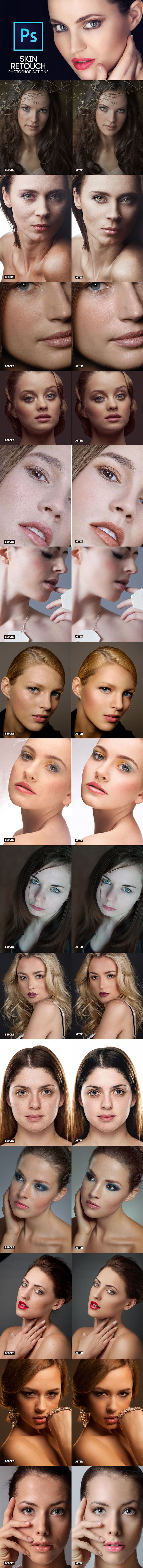 Professional Skin Retouching - Photo Effects Actions