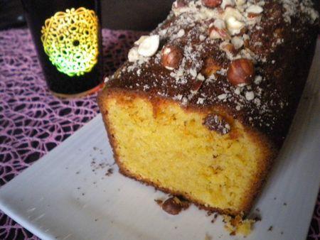 Cake aux noisettes et au rhum sans alcool (Sirop Monin)
