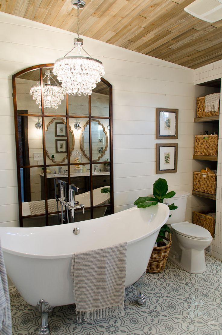 267 best farmhouse style images on pinterest farmhouse for Master bathroom farmhouse
