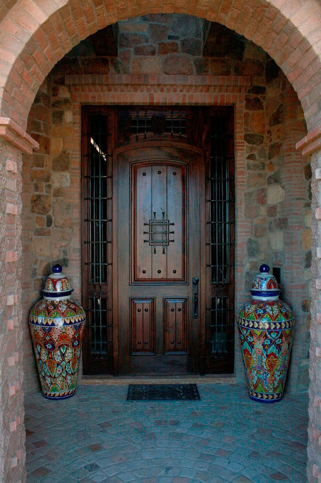Entry Doors - I love the panels on the door and the way they are bolted on to it .