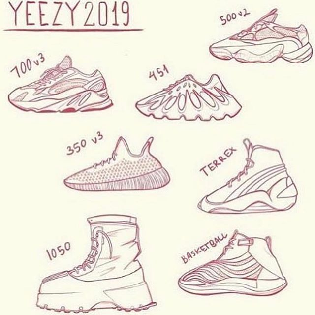 list of all yeezys