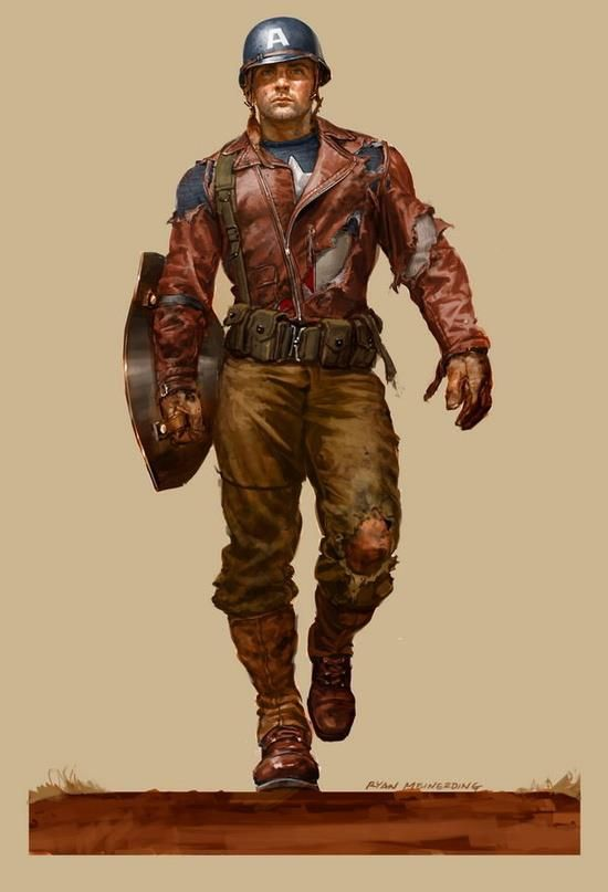 Dieselpunk:  #Dieselpunk fashion ~ Captain America.