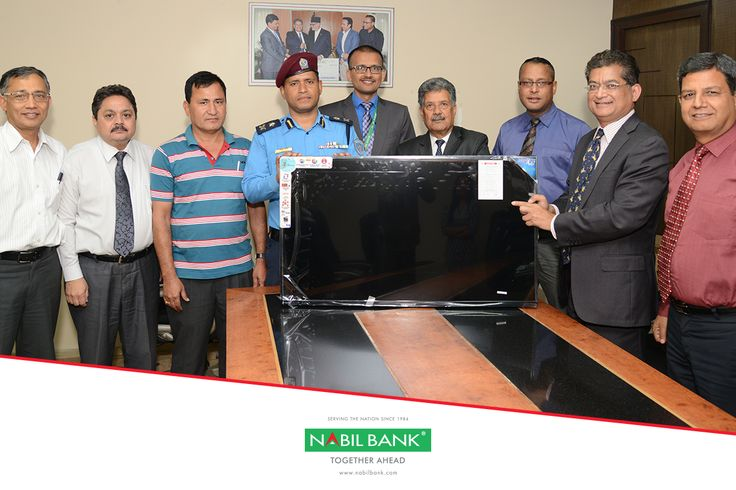 As a part of our support to the community, we have provided an Electronic Digital Display Board and a LED Television screen to Metropolitan Police Circle, Durbarmarg to help spread social awareness messages and aid in CCTV monitoring more effectively. Mr. Shambhu Prasad Poudyal, Chairman of Nabil Bank handed over the equipment on October 12, 2017 to DSP Tilak Bharati in presence of bank's CEO Sashin Joshi and senior management officials.