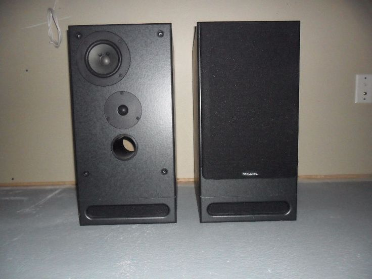 """2 black messina mss-200 speakers. originally purchased for $500. excellent for music or movies. includes woofer that is positioned downward making the enclosure size smaller. details: -150w each, high frequencies: 1"""" wide diffusion dome tweeter; midrange transducer: 4"""" wide diffusion; - woofer: 8"""" polypro, sub-enclosure - frequency response: 30hz - 20 khz - 8 ohm"""