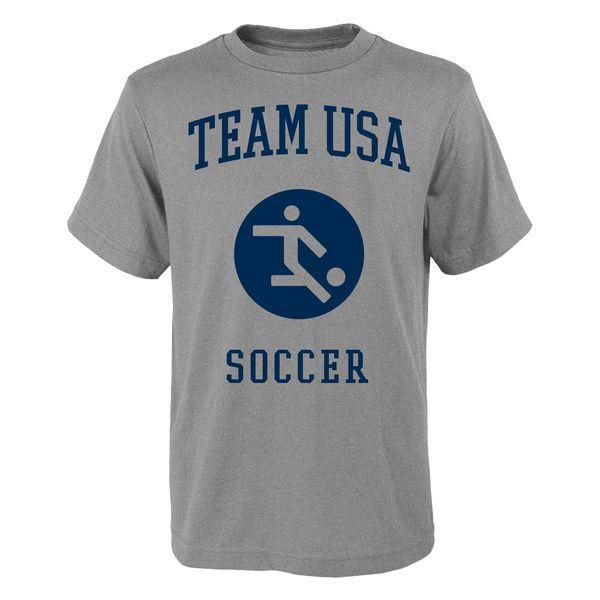 Team USA Soccer Pictogram T-Shirt - Heather Gray - $19.99