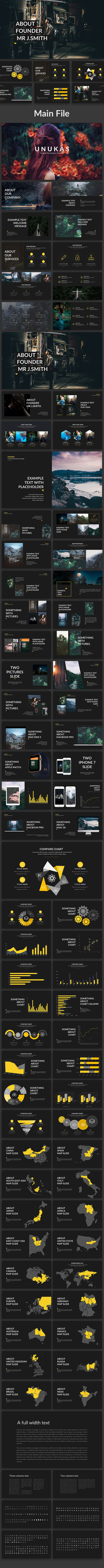 Unukas  Creative Powerpoint Template #data charts #pitch deck • Download ➝ https://graphicriver.net/item/unukas-creative-powerpoint-template/19495937?ref=pxcr