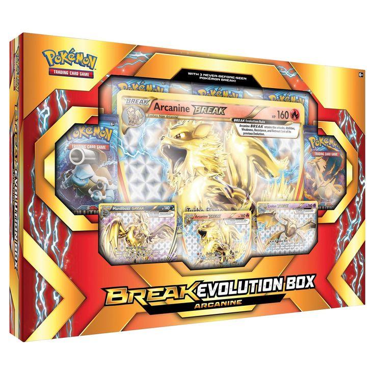 2017 Pokemon Trading Card Game Break Evolution Box featuring Arcanine