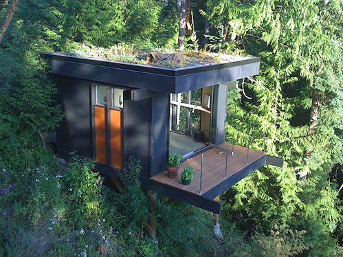 Home office: Offices Spaces, Trees Houses, Tiny Houses, Houses Ideas, Treehouse, Small Houses, Small Cabins, Houses Design, Home Offices