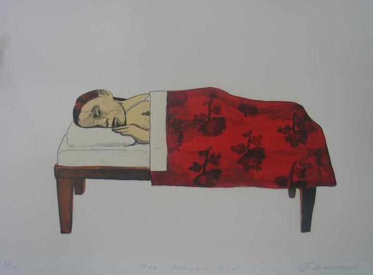 Claudette Schreuders, 'Narrow Bed', 2003 Chine collé lithographs, 38 x 28.5cm.