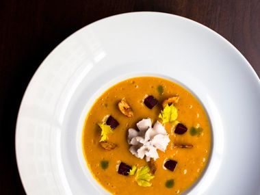 Red Kuri Squash Soup Recipe by Fifth Floor's David Bazirgan | San Francisco - DailyCandy