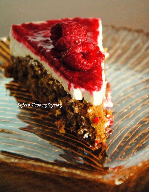 Κέικ με ελαφριά κρέμα πορτοκαλιού και σάλτσα από βατόμουρα, χωρίς ζάχαρη και με λίγα λιπαρά! Συνταγές για διαβητικούς Sofeto Γεύσεις Υγείας.