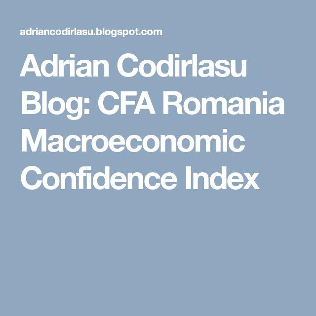 Adrian Codirlasu Blog: CFA Romania Macroeconomic Confidence Index