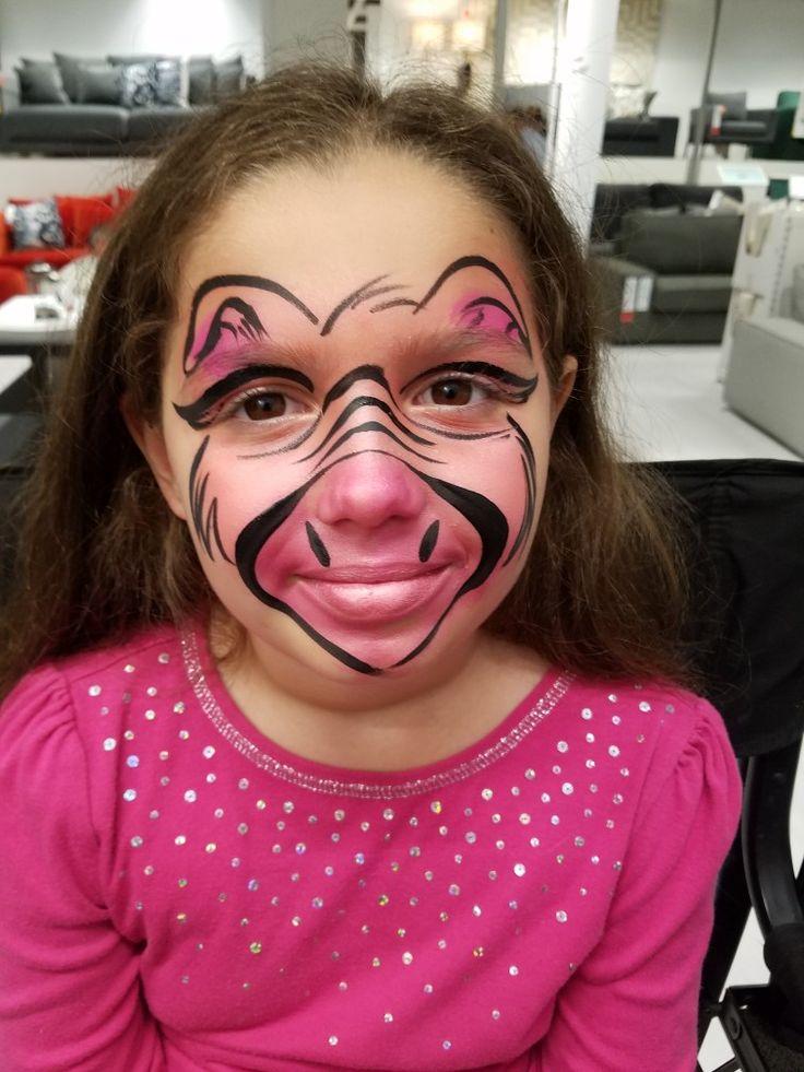 Pig face painting design by Linda Schrenk #amazingfacepaintingbylinda #facepainting #facepaintingjax #facepaintingjacksonvillefl #birthdaypartiesjax #floridafacepainter www.amazingfacepaintingbylinda.com
