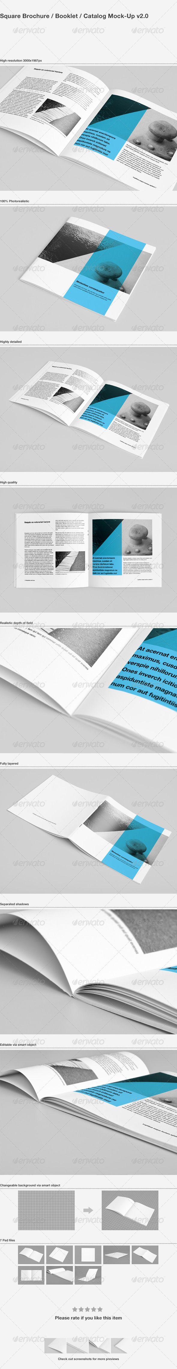 Square Brochure / Booklet / Catalog Mock-Up #brochuremockup #bookletmockup #catalogmockup Download: http://graphicriver.net/item/square-brochure-booklet-catalog-mockup/3019036?ref=ksioks