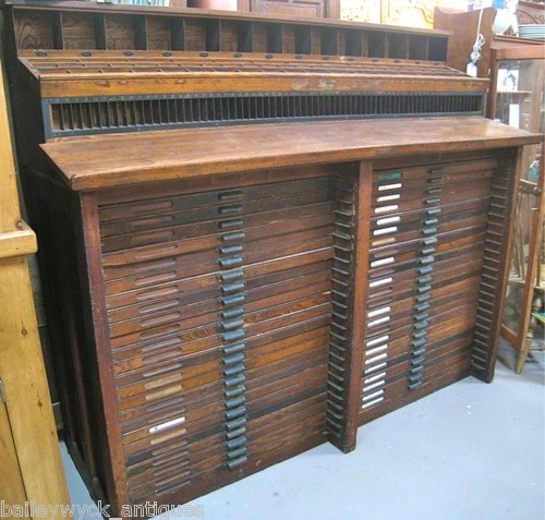 I Want This Hamilton Double Letterpress Type Cabinet Amp Compositor Work Stand Letterpress Type