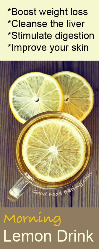 Something as simple as having a warm lemon and apple cider vinegar drink in the ...