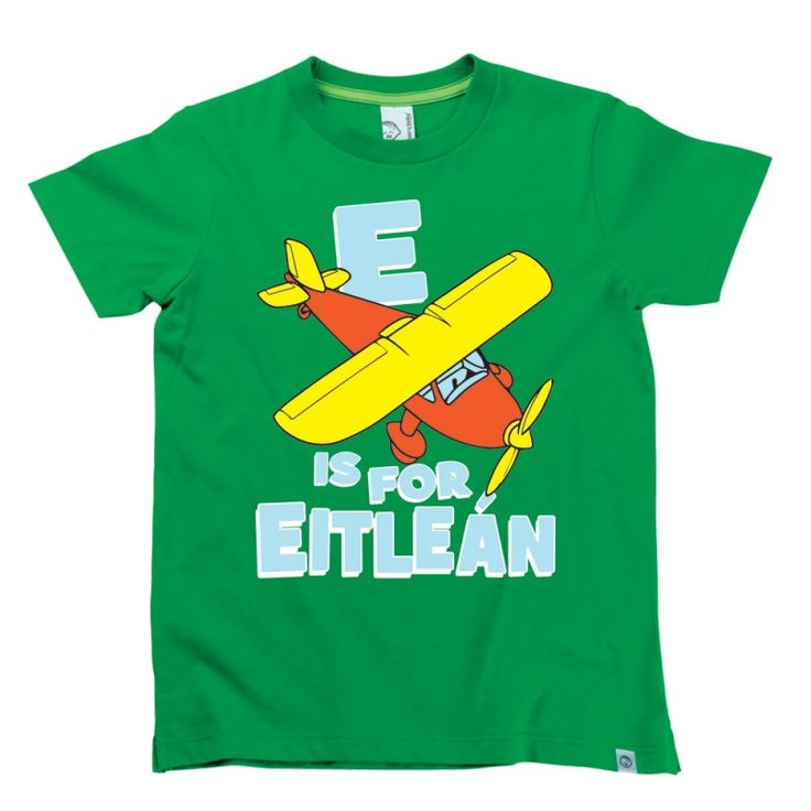 E is for Eitleain Kids Alphabet T-Shirt by Hairy Baby