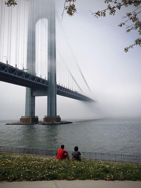 Verrazano Bridge in the Fog Bay Ridge Brooklyn