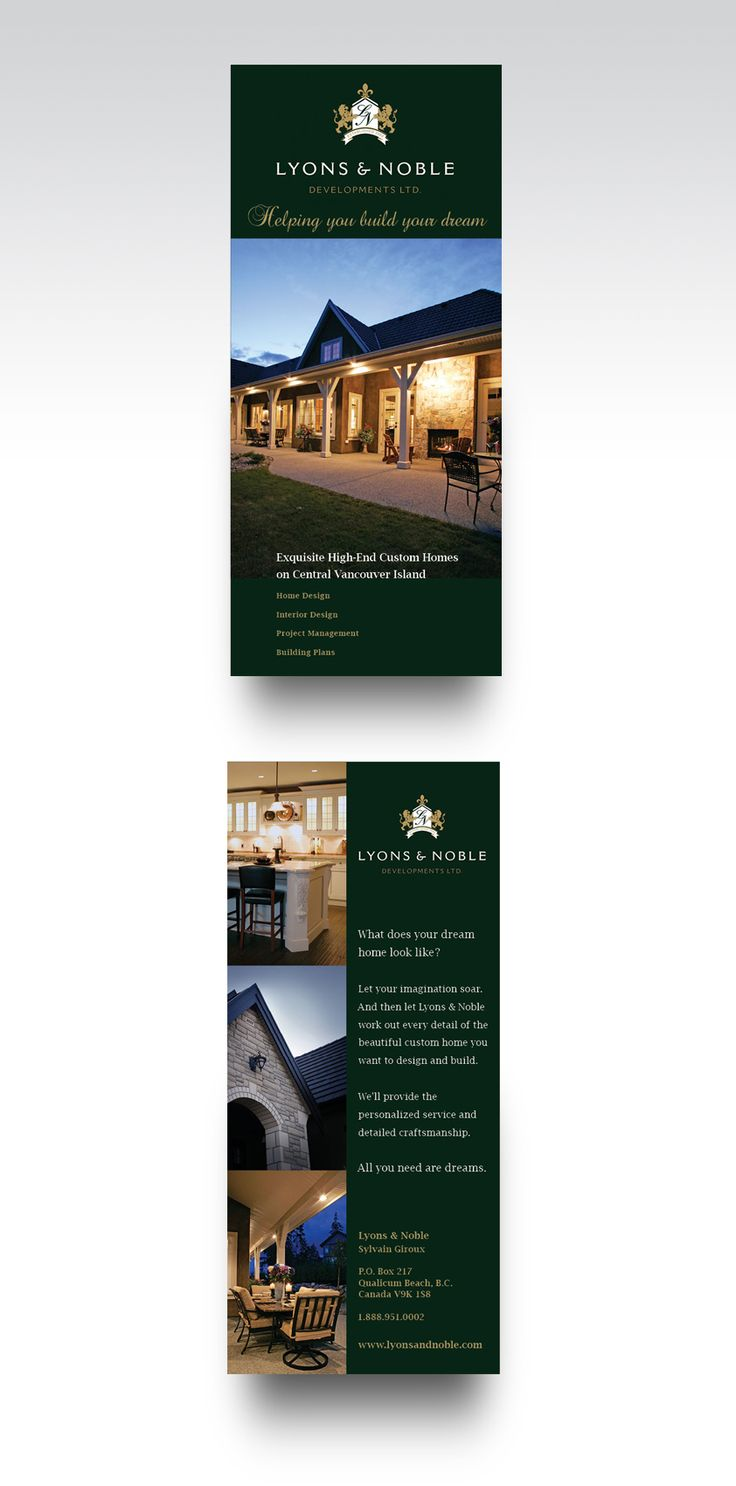 lyons u0026 noble flyer design for a home builder on vancouver