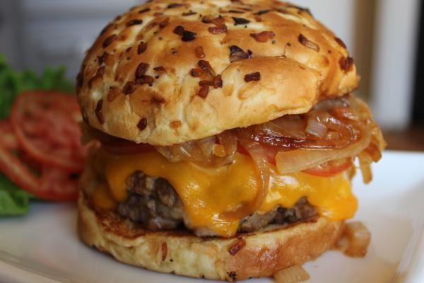 3 Cheese Stuffed Ranch Burgers Recipe